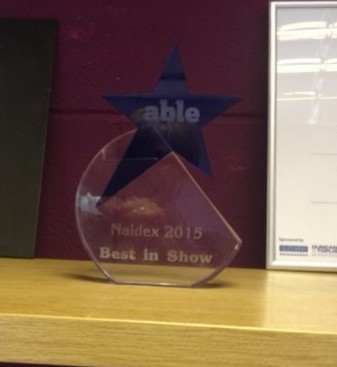 Naidex Able Mag best in show award