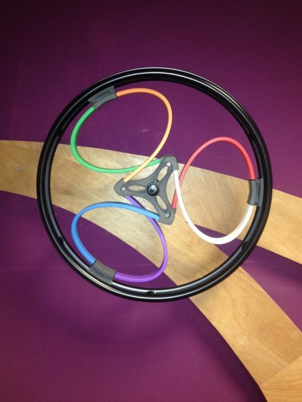 Multi-coloured loopwheels for wheelchairs