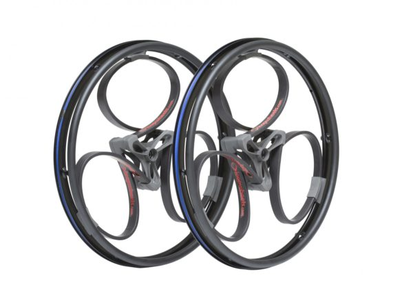 black wheelchair wheels